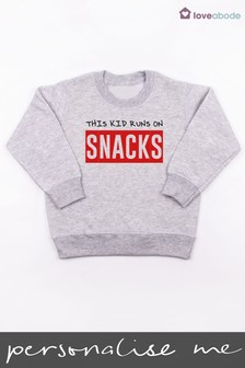 Personalised Run On Snacks Jumper by Loveabode