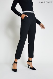 Harpenne Black Stretch Cigarette Trousers