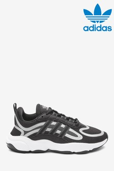 adidas Originals Black/Silver Haiwee Youth Trainers