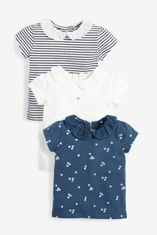 3 Pack Collar T-Shirts (3mths-7yrs)