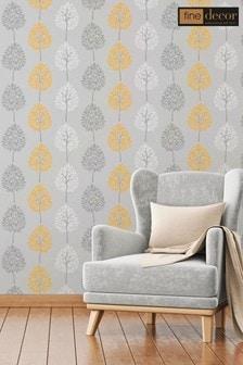 Fine Décor Grey Riva Floral Wallpaper