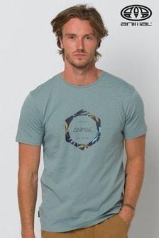Animal Lamary T-Shirt mit Grafikprint, bleigrau