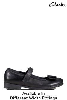 Clarks Black Scala Tap K Shoes