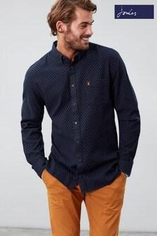 Joules Halbert Long Sleeve Classic Fit Printed Shirt