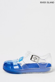 River Island Blue Ombre Jelly Sandals