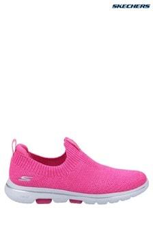 Skechers® Pink Gowalk 5 Trendy Slip-On Sports Trainers