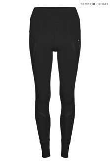 Tommy Hilfiger Black High Waisted Sports Leggings