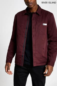 River Island Berry Plain Quilted Shirt