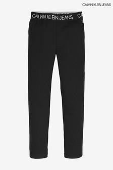Calvin Klein Black Jeans Logo Waistband Joggers