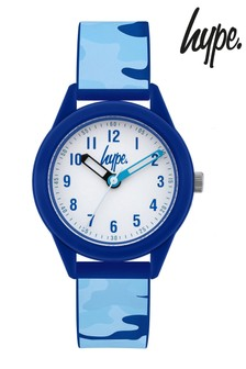 Hype. Blue Camo Kids Watch