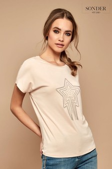 Sonder Studio Pink Chain Star T-Shirt