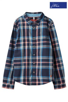Joules Blue Lachlan Long Sleeve Check Shirt
