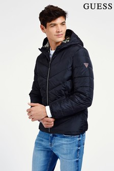 Guess Black Quilted Padded Jacket