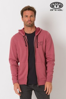 Animal Pink Shiver Zip Through Hoody