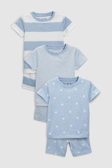 Bequeme Pyjamas mit Stern im 3er-Pack (9Monate bis 8Jahre)