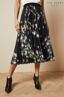 Ted Baker Pleated Midi Skirt
