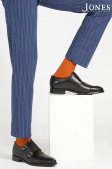 Jones Bootmaker Black Elton Double Monk Men's Shoes