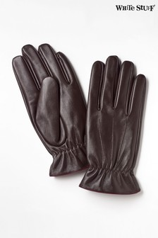 White Stuff Brown Lucas Leather Gloves