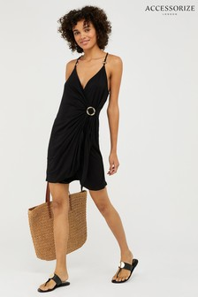 Accessorize Black Jersey Ring Detail Dress