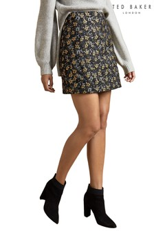 Ted Baker Black Rainie Jacquard Mini Skirt