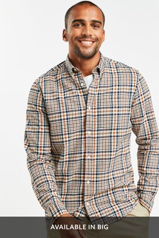 Check Brushed Long Sleeve Shirt