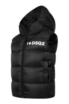 Boys Black Padded Gilet