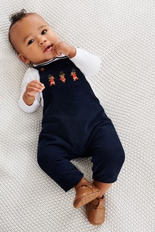 Smart Cord Dungarees And Jersey Bodysuit Set (0mths-2yrs)