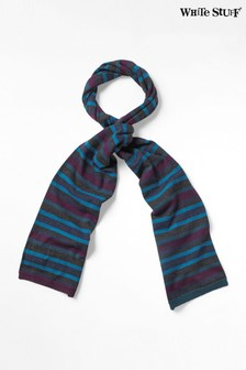 White Stuff Blue Marty Stripe Scarf