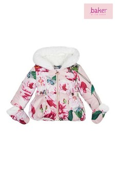 baker by Ted Baker Pink Print Padded Coat