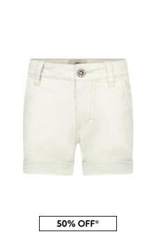 Timberland Boys White Cotton Shorts