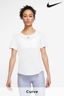 Nike White One Dri Fit Top