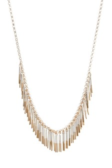 Dipped Fringe Collar Necklace