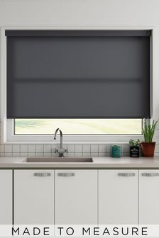 Darton Slate Black Made to Measure Light Filtering Roller Blind