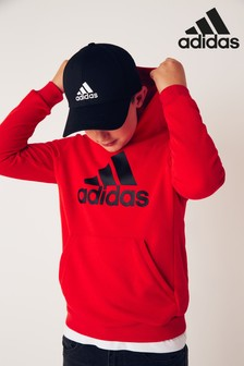 adidas Red Must Have Overhead Hoody