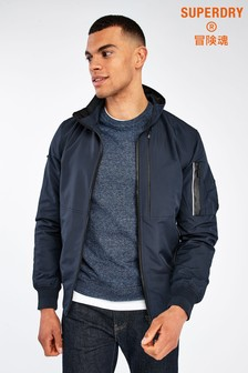Superdry Navy Light Bomber Jacket
