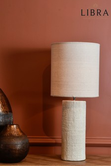 Libra Tall Cream Textured Porcelain Table Lamp