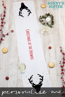 Personalised Monochrome Stag Runner by Jonnys Sister