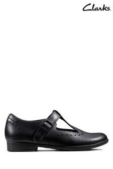 Clarks Black Scala Seek K Shoes