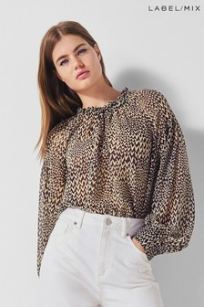 Second Female Heart Print Blouse