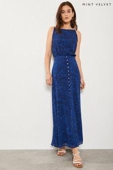 Mint Velvet Blue Hope Print Maxi Skirt