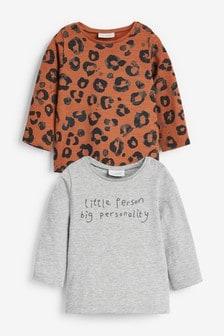 2 Pack Slogan T-Shirts (0mths-2yrs)