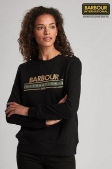 Barbour® International Black Rally Metallic Sweatshirt