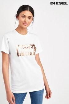 Diesel® T-Shirt mit Folien-Logo