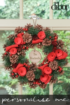 Personalised Winter Roses Wreath by Dibor