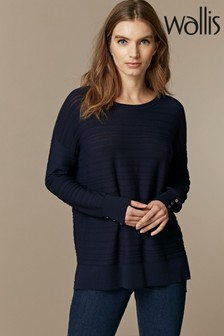 Wallis Navy Stripe Jumper
