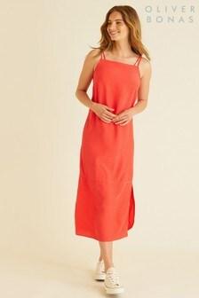 Oliver Bonas Asymmetric Hem Swing Dress