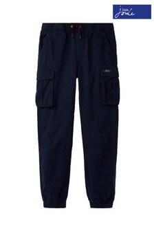 Joules Blue Trekker Cargo Woven Trousers