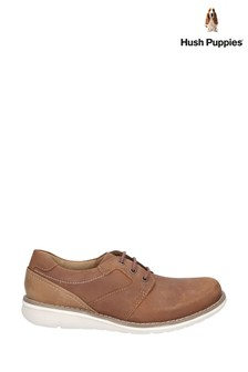 Hush Puppies Tan Chase Casual Lace-Up Shoes
