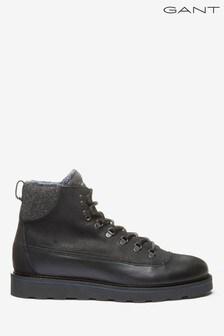GANT Black Don Mid Lace Boots