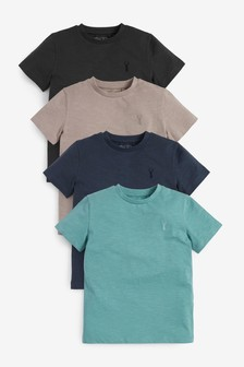 4 Pack Stag Embroidery T-Shirts (3-16yrs)